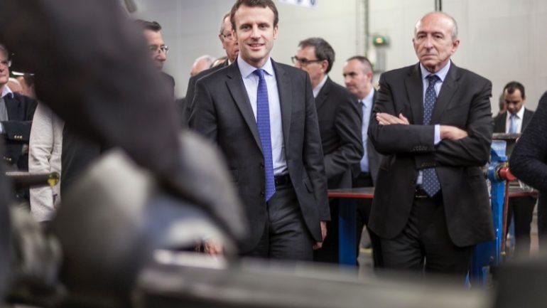 Macron en visite à l'Institut des ressources industrielles