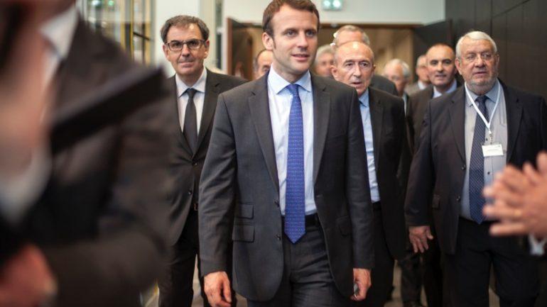 Emmanuel Macron Collomb Kimelfeld juin 2016
