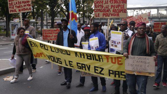 Manifestation contre le président Congolais