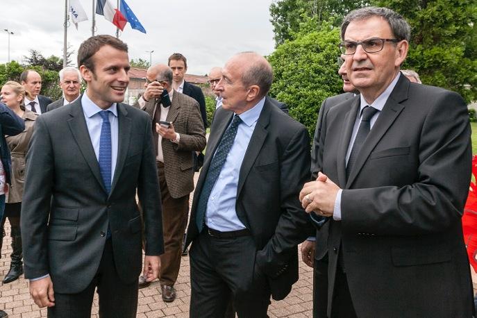 David Kimelfeld Emmanuel Macron Gérard Collomb