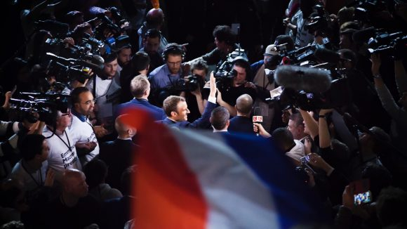 Emmanuel Macron Gerland caméras © Tim