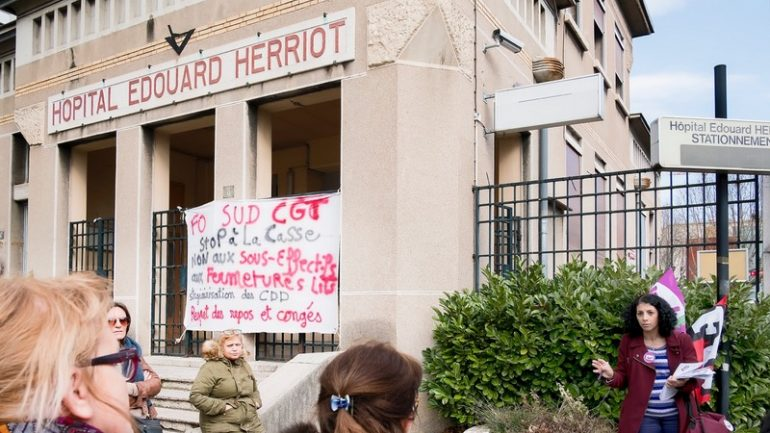 Grève hôpital Edouard Herriot 15 février 2017