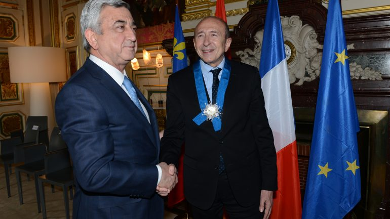Collomb et président Arménie