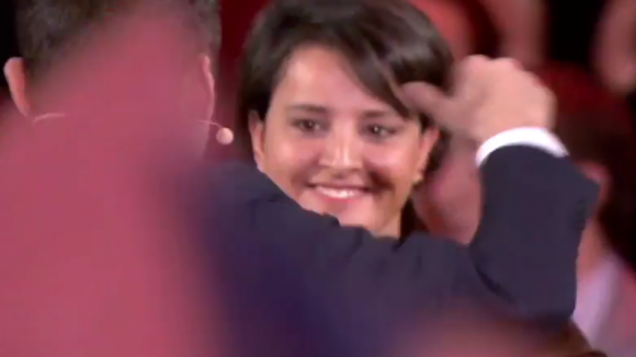 Najat au meeting de Macron