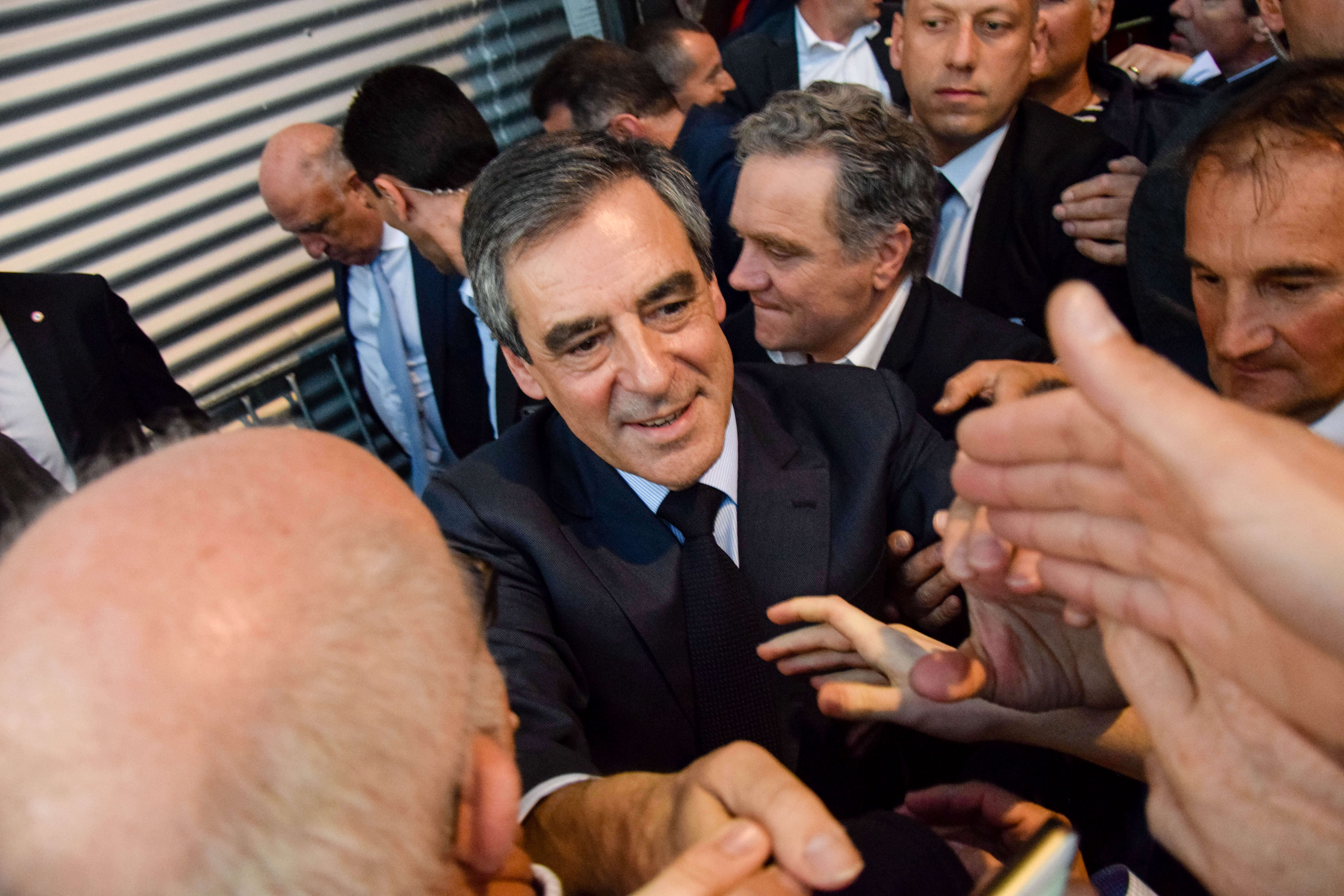 François Fillon en meeting à Lyon.