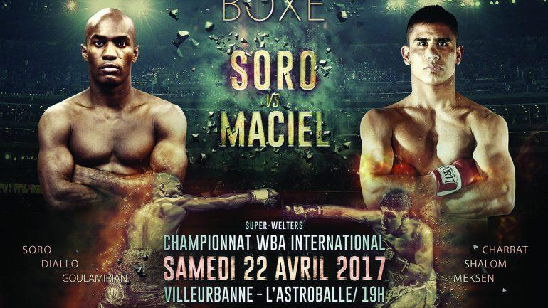 Affiche du gala de boxe à l'Astroballe