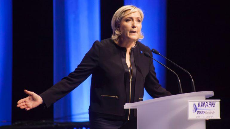 Marine Le Pen en meeting à la Cité internationale de Lyon