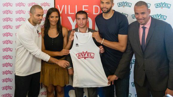 L'équipe dirigeante du Lyon Asvel basket.