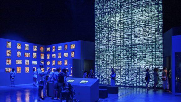 expo Lumière tour bleue