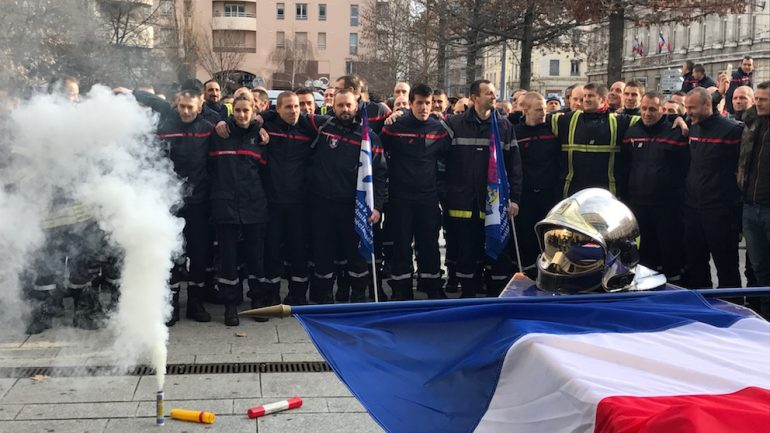 Manifestation pompiers janvier 2018 2