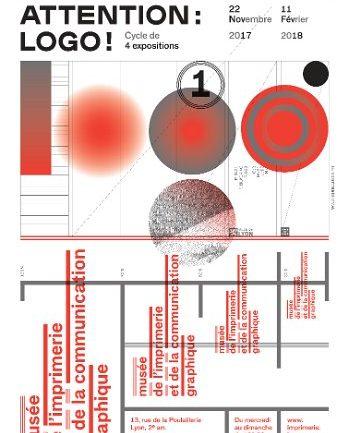 Affiche expo Attention logo musée Imprimerie