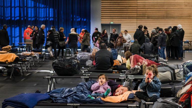 Réfugiés albanais plan grand froid