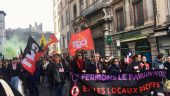 Manifestation antifasciste contre le bastion social
