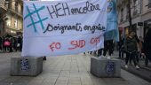 grève hôpital banderole