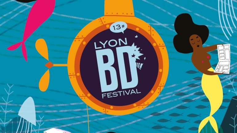 L'affiche de la 13e édition du Lyon BD Festival réalisée par Pénélope Bagieu