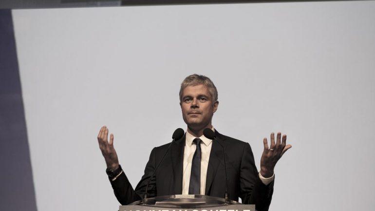Laurent Wauquiez, en meeting pendant la campagne des régionales 2015 © Tim Douet