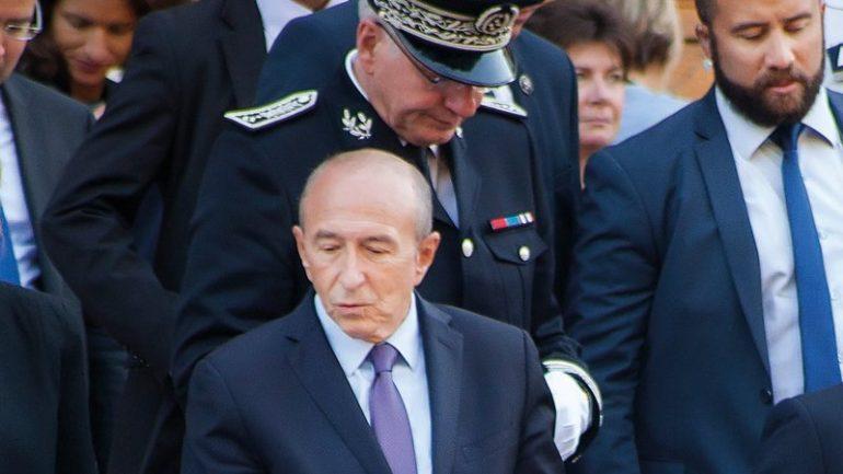 Gérard Collomb en visite officielle à Lyon, en septembre 2017 © Tim Douet