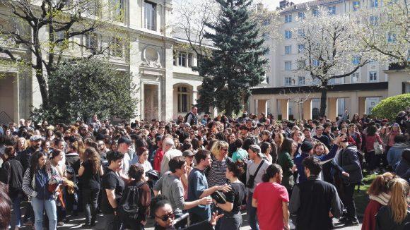 Mobilisation étudiante à Lyon 2 © TF