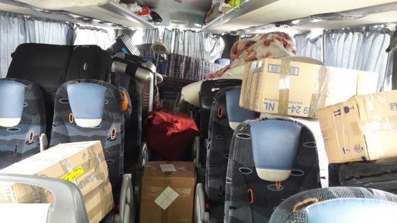 Intérieur du bus marocain - photo fournie par la DDSP 69