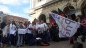 Manifestation LGBT devant l'Hôtel de Ville du 1er arrondissement© Elie Guckert