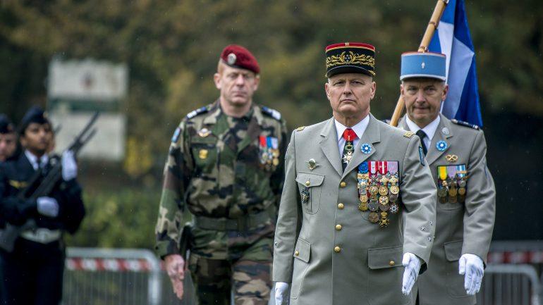 Général Chavancy lors du défilé de l'armistice du 11 novembre 2018