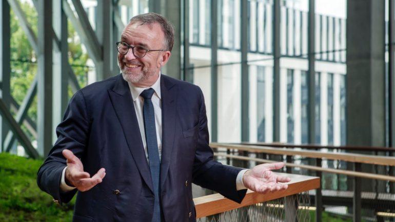 Étienne Blanc, à l'hôtel de région, en mai 2018 © Tim Douet