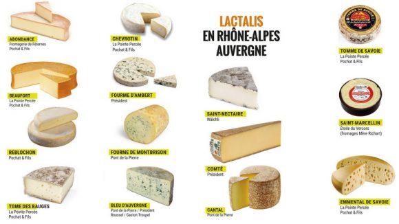 Fromages : les 11 AOP et 3 IGP Lactalis © Lyon Capitale