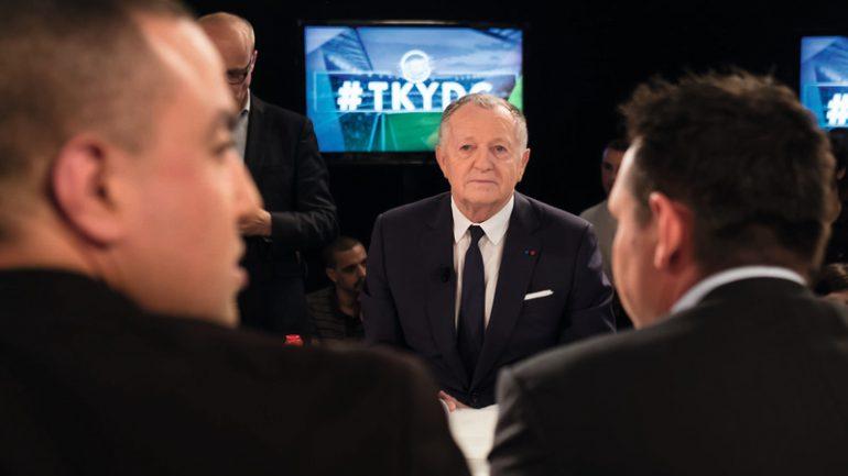 """Jean-Michel Aulas sur le plateau de l'émission """"Tant qu'il y aura des gones"""" © TLM/Olympique-et-Lyonnais"""