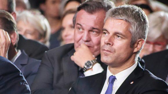 Olivier Ginon et Laurent Wauquiez au meeting de François Fillon, le 22novembre 2016 à Lyon © Tim Douet
