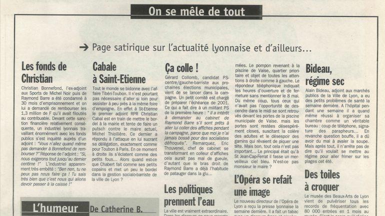Lyon Capitale N°171 du 13 au 19 mai 1998 p 23