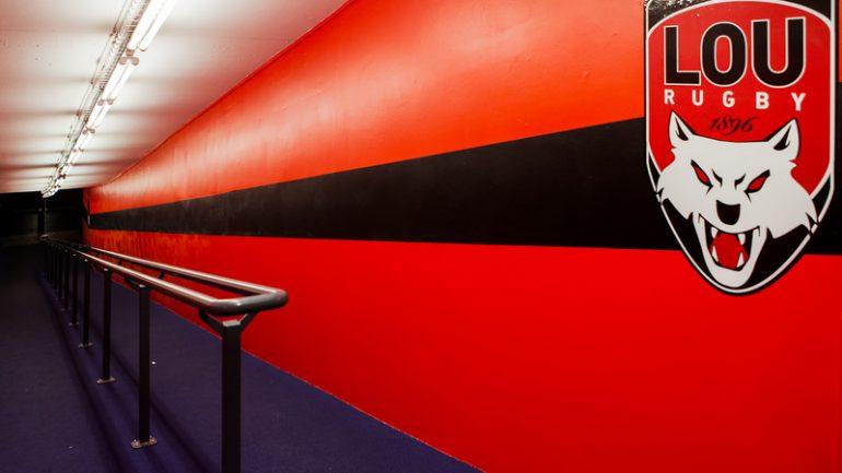 Couloir du stade de Gerland, investi en par le Lou Rugby début 2017 © Tim Douet