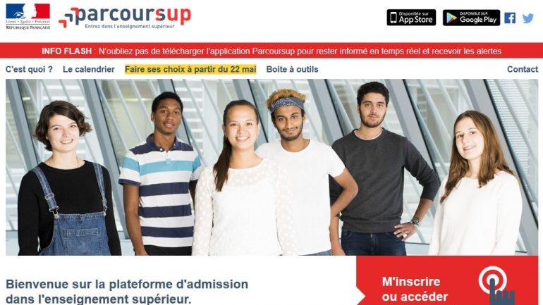 capture d'écran du site parcoursup.fr