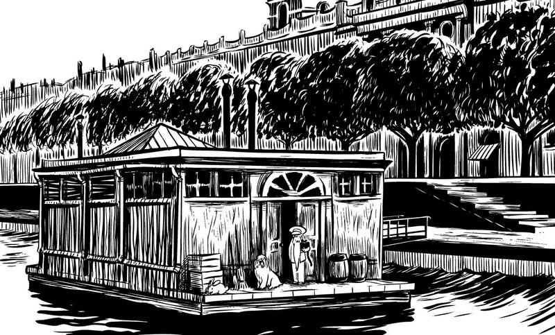 La morgue flottante (détail) © Ludivine Stock
