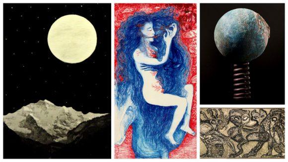 JLBlanchet – Magie (Ombre et lumière) / S.Martagex – Cheveux rebelles / JABertozzi – Ressorts poétiques / J.Raine – Encres3, fatigue pressentie (1967)