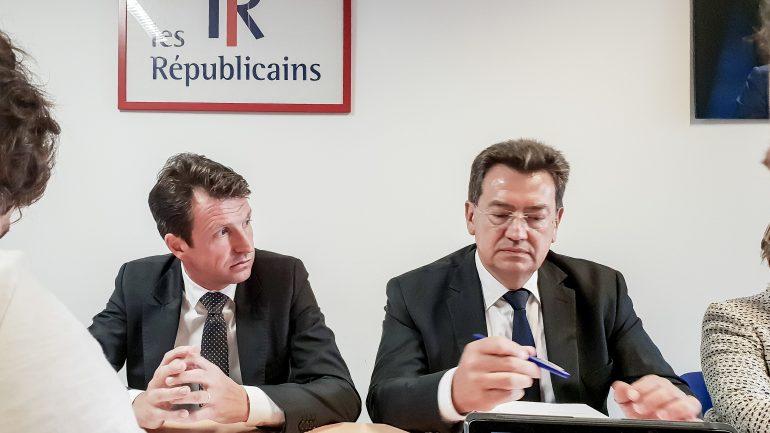 Les élus LR Stéphane Guilland et Philippe Cochet en juin 2018 © Tim Douet