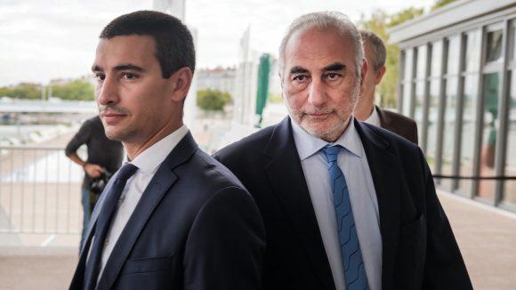 Yann Cucherat, avec le maire de Lyon, Georges Képénékian, en septembre 2017 © Tim Douet