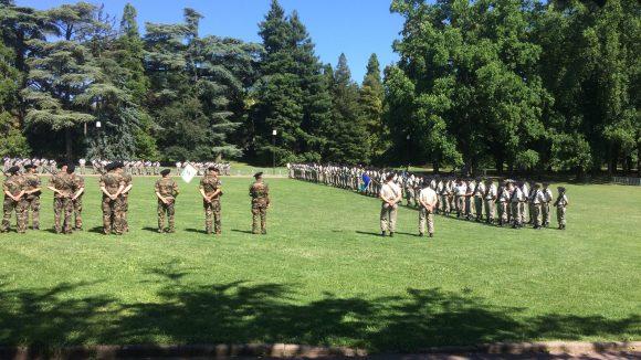 Cérémonie militaire au parc de la Tête d'Or
