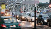 Bouchon sur le pont de la Mulatière © Tim Douet