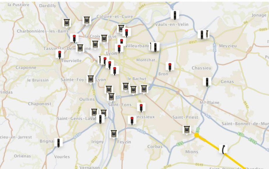 le gouvernement publie la carte des radars d couvrez ceux de lyon. Black Bedroom Furniture Sets. Home Design Ideas