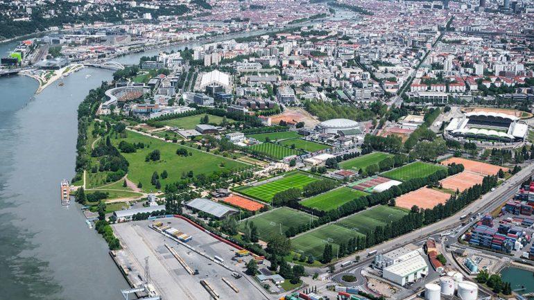 Vue de Lyon – Au premier plan, Gerland © Métropole de Lyon