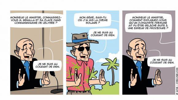 """Extrait d'un strip des """"Malheurs de Gégé"""" publié dans le n°780 de Lyon Capitale © Jibé"""