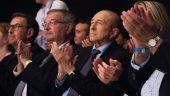 Michel Mercier et Gérard Collomb au meeting En Marche – campagne législatives 2017 © Tim Douet