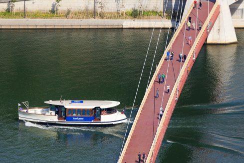 Vaporetto sur la Saône à Lyon © Tim Douet