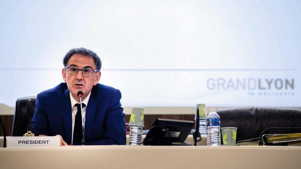 David Kimelfeld, lors de son élection à la présidence de la métropole – Grand Lyon, juillet 2017 © Tim Douet