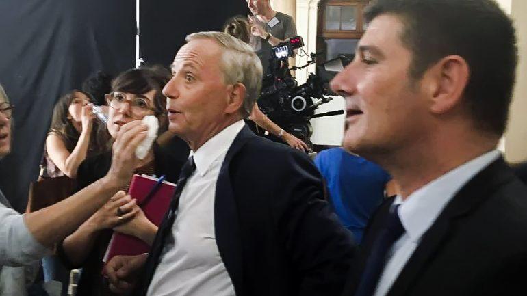 Fabrice Luchini en tournage à Lyon, en août 2018 © DR