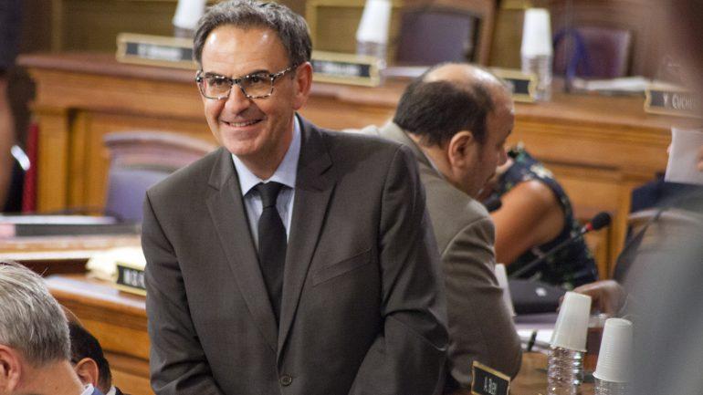 David Kimelfeld au conseil municipal, en septembre 2018 © Tim Douet