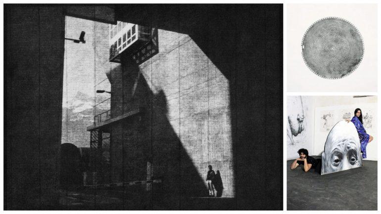 Photographie de Martin Becka / Rainier Lericolais – Estudiantina (estampage) / Vincent Chéry et Chloë Breil-Dupont