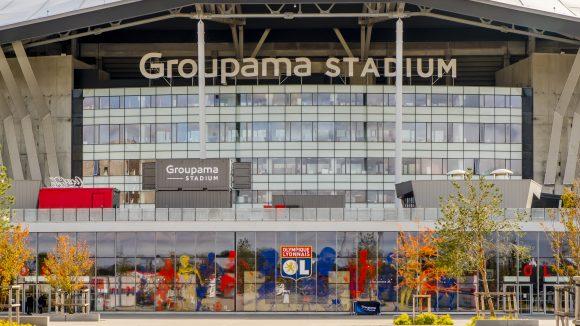 Entrée du Groupama Stadium, à Décines © Tim Douet