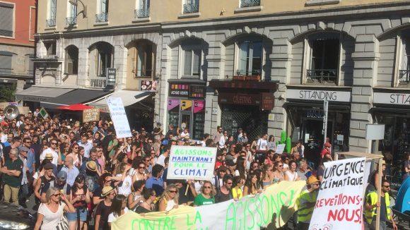 Marche pour le climat à Lyon © Antoine Sillières