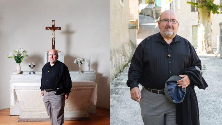 Le père Pierre Vignon, en septembre 2018, à Saint-Martin-en-Vercors © Tim Douet